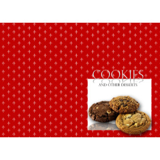 Cookies and Other Delicious Desserts on Red