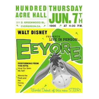 Winnie The Pooh's Eeyore concert poster