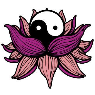 Lotus Flower and Yin Yang