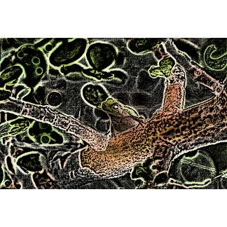 invert tree frog in tree painting cute animal