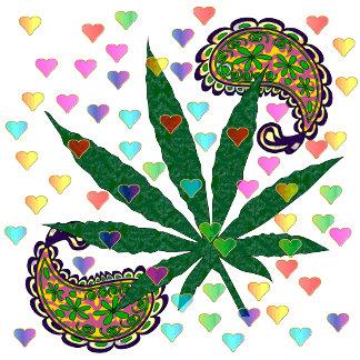 Paisley Marijuana Leaf Art