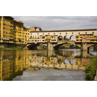 Italy, Florence, Reflections in the River Arno