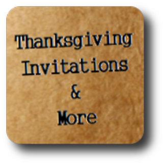 Thanksgiving Invitations, Menus & more