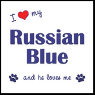 I Love My Russian Blue (Male Cat)