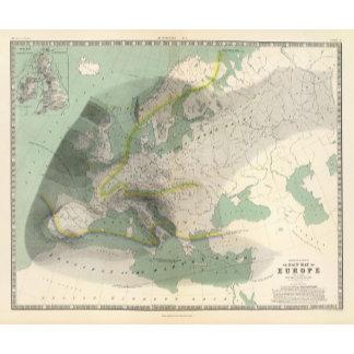 Hyetographic map Europe