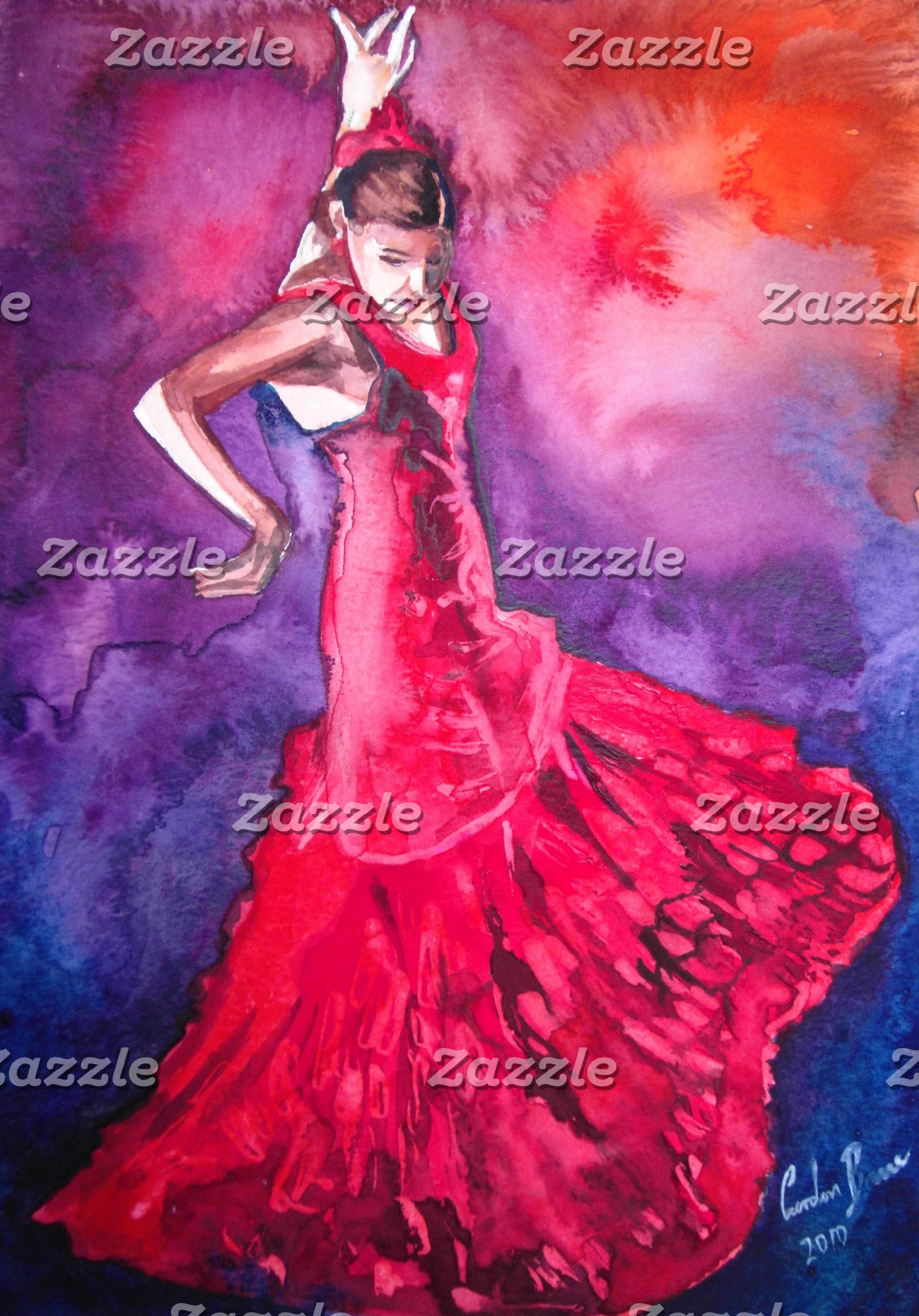 Flamenco dancers paintings
