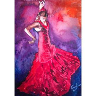 Flamenco dancers paintings
