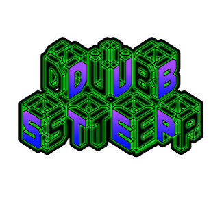 3D Neon Cubes Dubstep art  logo
