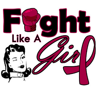 Multiple Myeloma Fight Like A Girl - Retro Girl