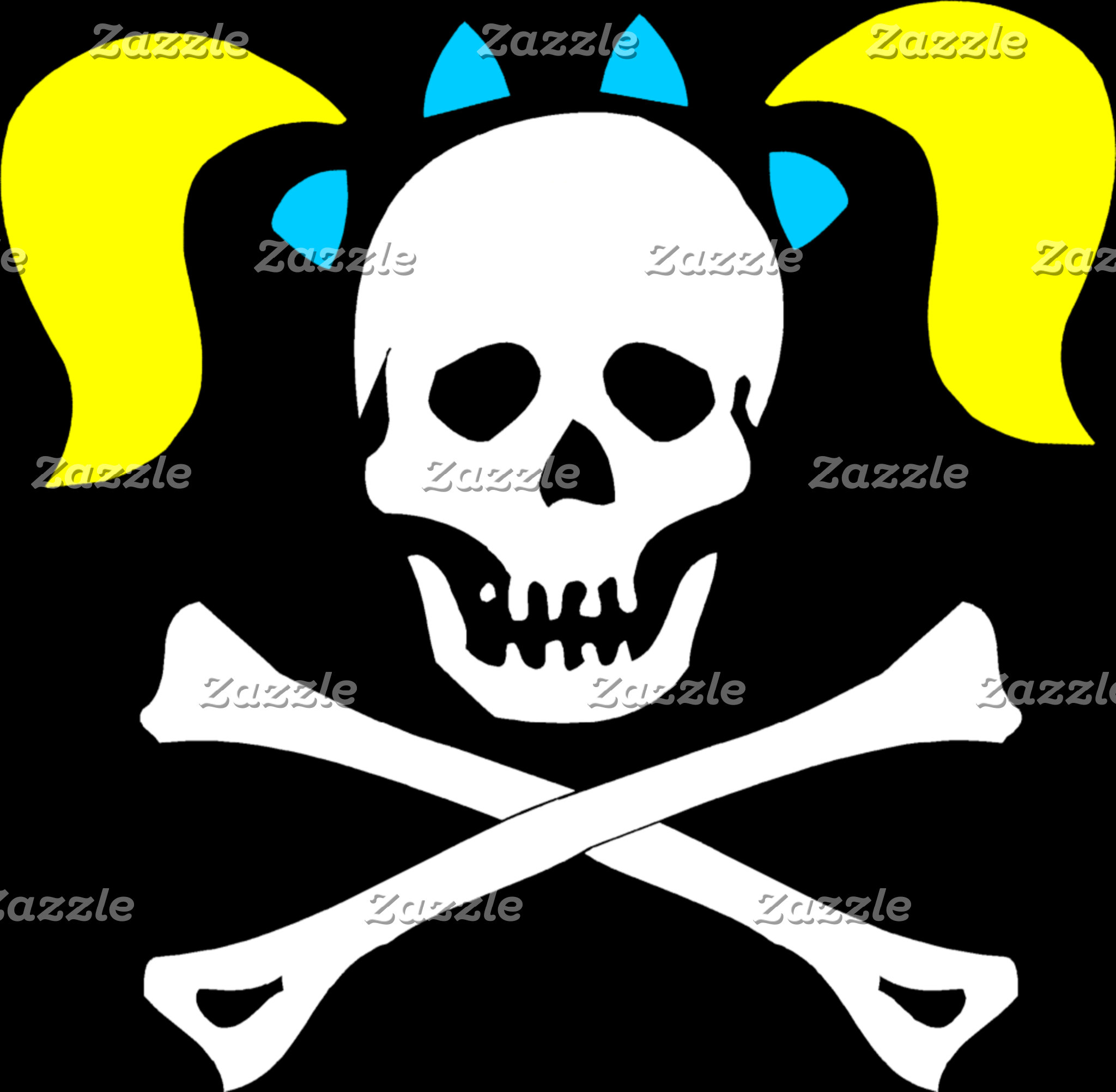 Skull And Crossbones With Pigtails T-Shirt