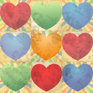 Heart background in Vintage style