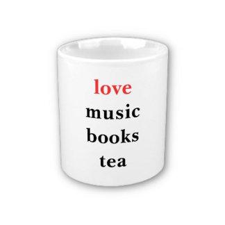 love music books tea