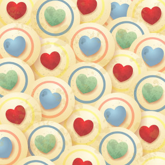 Hearts pattern in vintage style