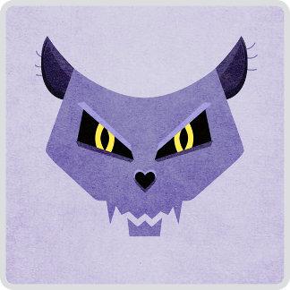18 - Evil Cat Skull With Evil Eyes