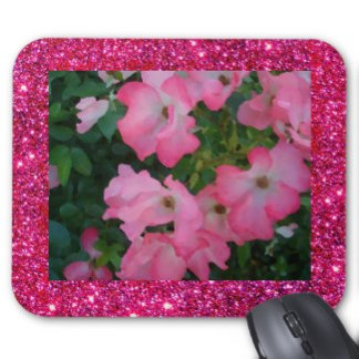 Pink Garden Roses Sparkle