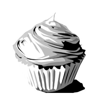 Gray vector cupcake template products
