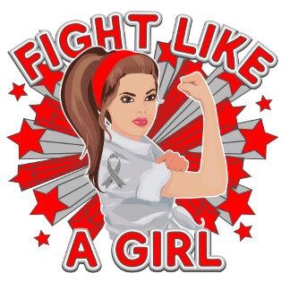 Brain Cancer Modern Rosie Fight