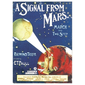 A Signal From Mars ~ Vintage Song Sheet Art