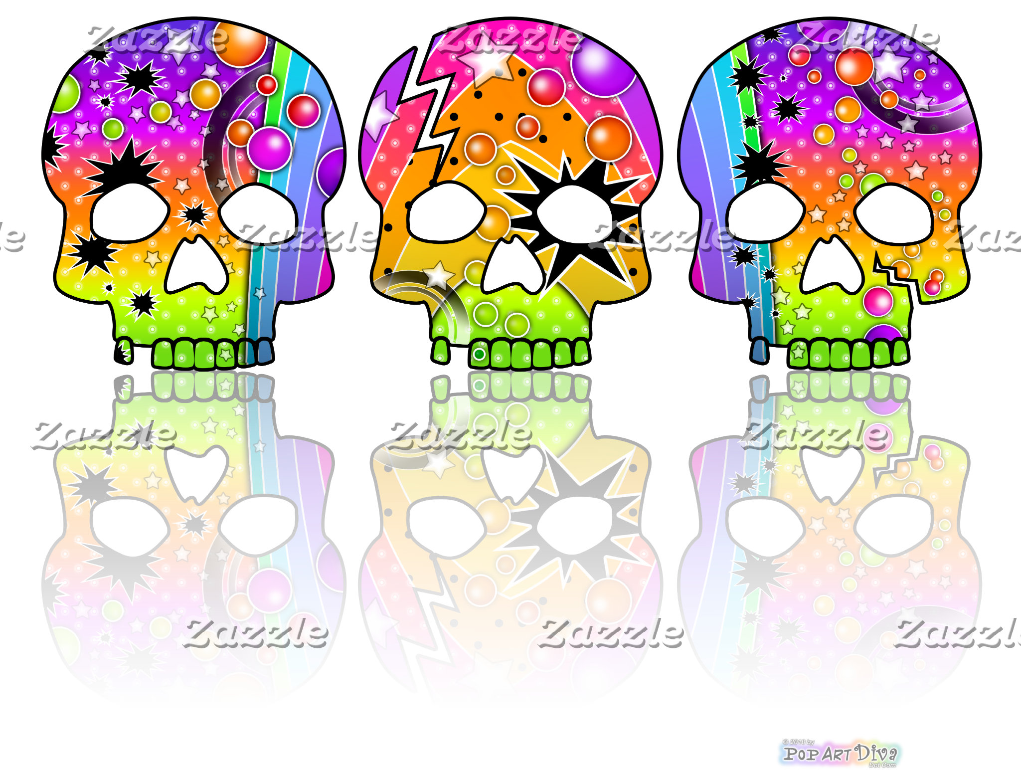 db. SKULLS POP ART
