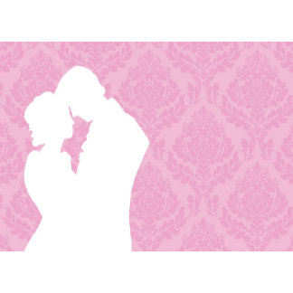 Victorian silhouette Save the date