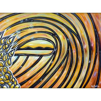 Beach Art - Groovy Waves