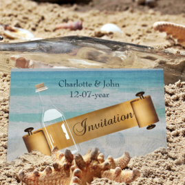 Message in a Bottle Beach  Invitations