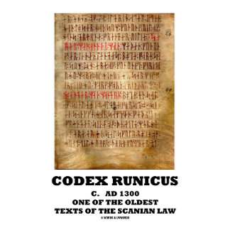 Codex Runicus One Of The Oldest Texts Scanian Law