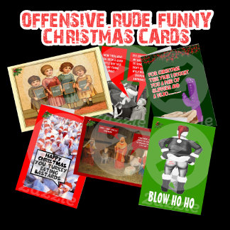 Funny,offensive Christmas cards-Rude Xmas cards