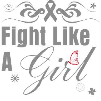 Brain Tumor Fight Like A Girl Ornate