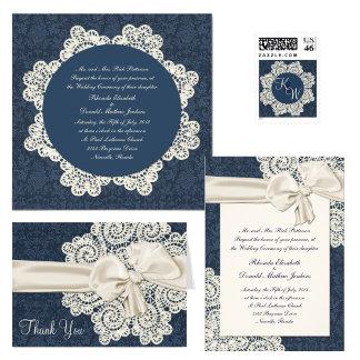 Country Denim & Ivory Lace Wedding