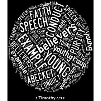 Holy Spirit Wear - black circle/white text