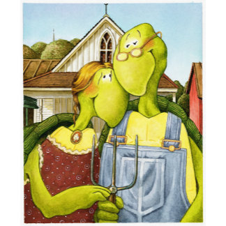 """American Gothic turtle Poster Print"""