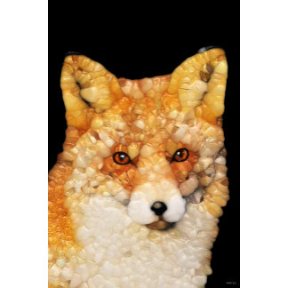 Red Fox Abstract