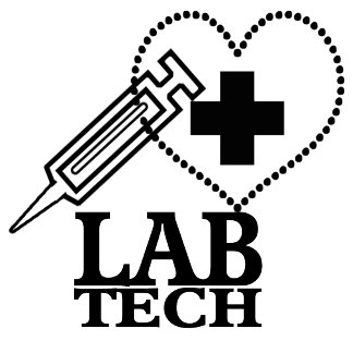 LAB TECH HEART. SYRINGE LOGO MEDICAL SCIENTIST