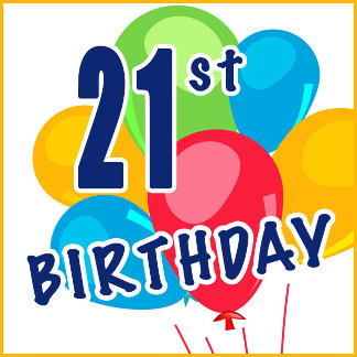 21st Birthday T-shirts, Gifts and Party Favors