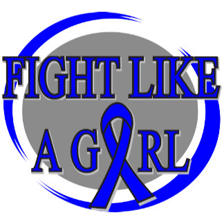 Colon Cancer Fight Like A Girl Circular