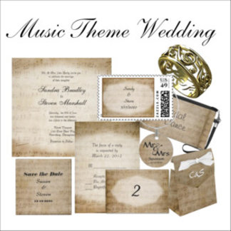 Music Theme Wedding