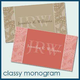 :: classy monogram ::