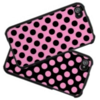 Pink and Black Polka Dots