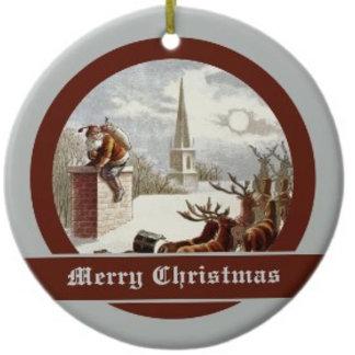 Vintage Santa Claus Reindeer Sleigh
