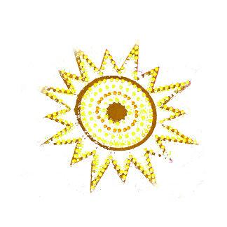 Yellow Sun in Lights Grunge Cutout
