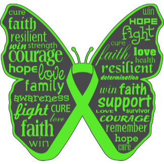 Lymphoma Butterfly Collage of Words