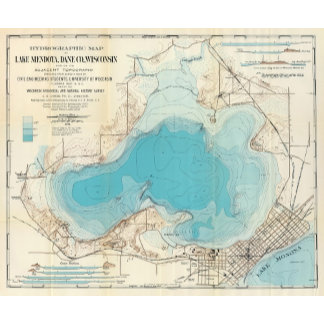 Hydrographic map Lake Mendota