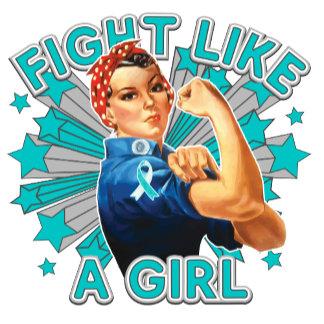 Cervical Cancer Vintage Rosie Fight Like A Girl