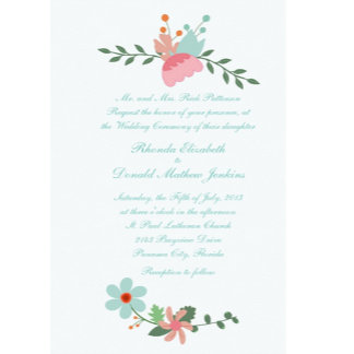 Spring Floral Wedding Products