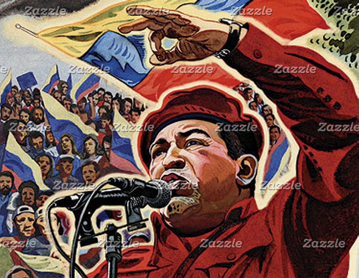 Hugo Chavez - Cartoon Revolution style