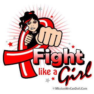 Animated Fight Like A Girl Blood Cancer