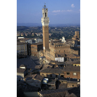 Europe, Italy, Siena. Town overview