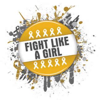 Fight Like a Girl Cool Button - Appendix Cancer