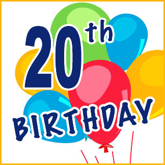20th Birthday T-shirts, Gifts and Party Favors